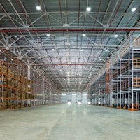 A warehouse that uses air filtration solutions to keep away harmful dust and contaminants