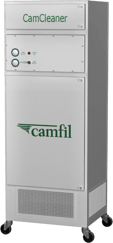 One of Camfil's freestanding vertical industrial air cleaners